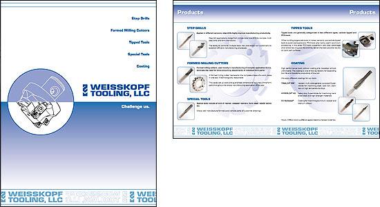 Englische Imagebroschüre für Weisskopf Tooling
