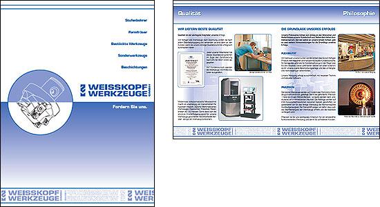 Deutsche Imagebroschüre für Weisskopf Werkzeuge