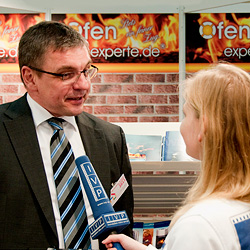 Ofenexperte.de-Chef Sven Wunderlich im TV-Interview.