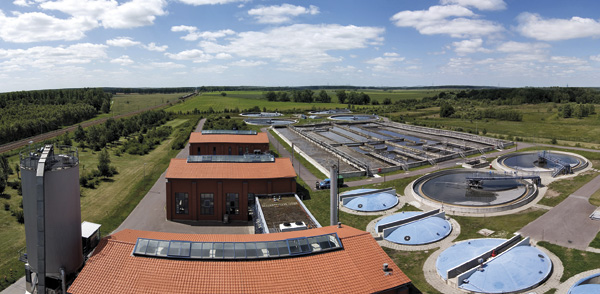 Panoramablick auf das Klärwerk Wansdorf (Foto: Z MEDIA)
