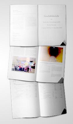 Geschäftsbericht der Stadtwerke Oranienburg 2010 - Titelblatt, Fotoseite, Bilanzseite