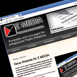 Neue Website von Z MEDIA Version 2012