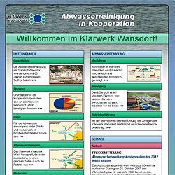 Homepage des Klärwerks Wansdorf